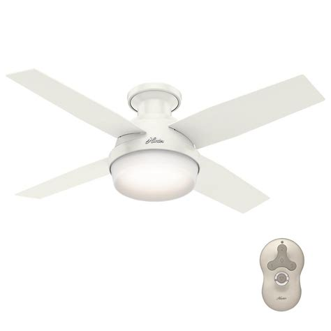 Low Profile Ceiling Fan With Light And Remote Dempsey 44 In Low Profile Led Indoor Fresh White Ceiling Fan With Universal Remote 59244