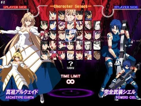 melty blood melty blood again current code arc drive last