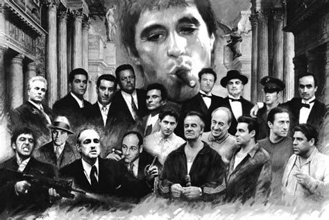 scarface soprano godfather good fellas heat collage print