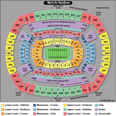 metlife stadium seating chart jets new york jets tickets 2018 ny jets tickets