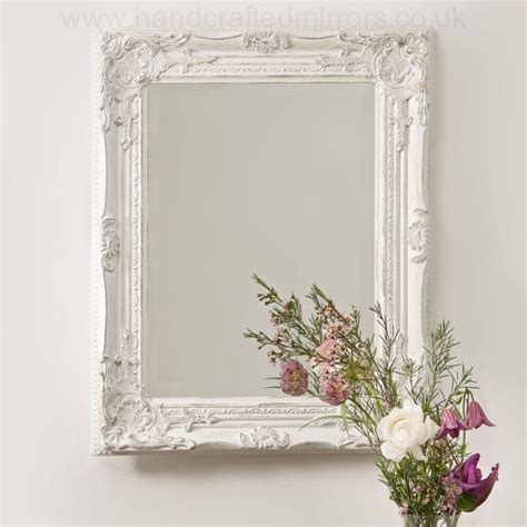 vintage shabby chic white cream french ornate wall mirror rococo country wedding pinterest