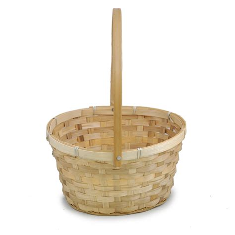 natural swing natural swing handle oval bamboo basket large the lucky