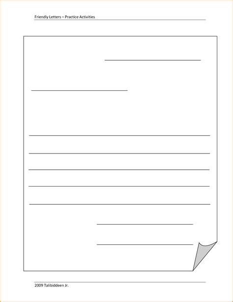 Business Letter Format Blank 9 friendly letter format printable invoice template
