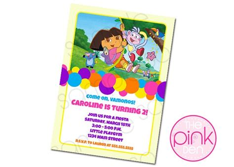 printable birthday invitations nz dora bday party invitation birthday ideas pinterest