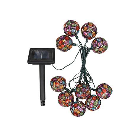 beaded string lights beaded globe solar led string lights by garden selections