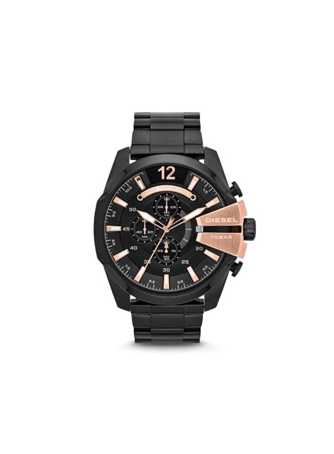 Diesel Move Black Rosegold diesel mega chief chronograph black gold