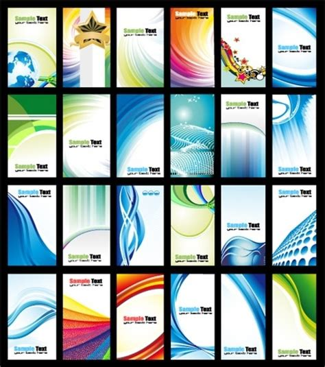 24 vector dynamic card templates free vector in