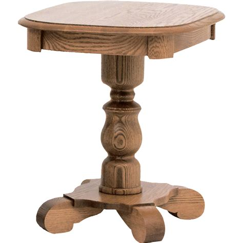 country style solid oak pedestal end 21 quot x 25