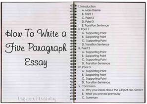 5 Paragraph Essay Exle by Five Paragraph Essays Layers Of Learning