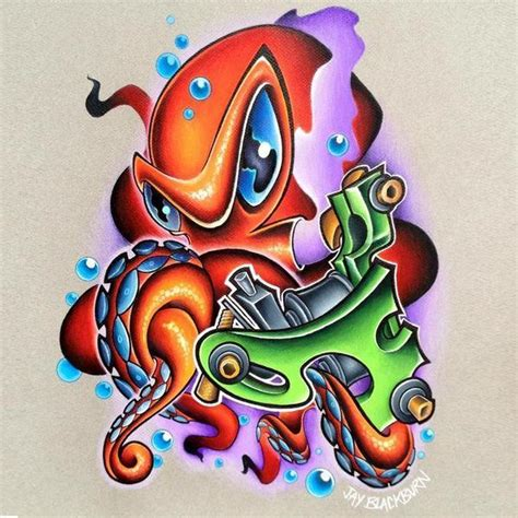 tattoo new school design delightful new school octopus design
