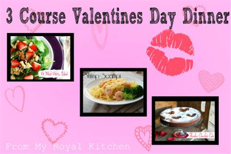 easy valentines day meals 3 course s day menu