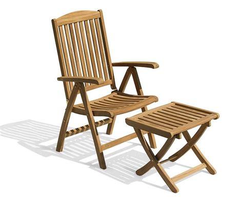 teak wood footstool cheltenham outdoor reclining chair with footstool teak