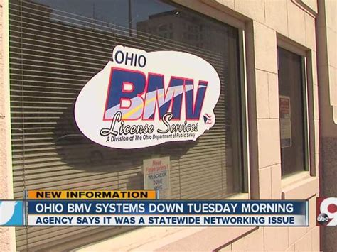 ohio bureau of motor vehicles ohio bmv reporting statewide outage