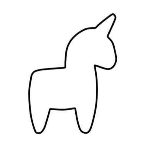 unicorn cut out pattern unicorn plush template birthday party pinterest
