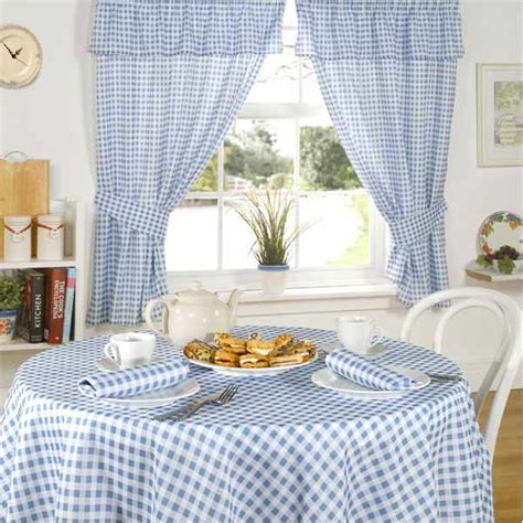 molly gingham check kitchen pencil pleat curtains ebay