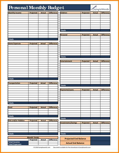12 month budget template toreto co
