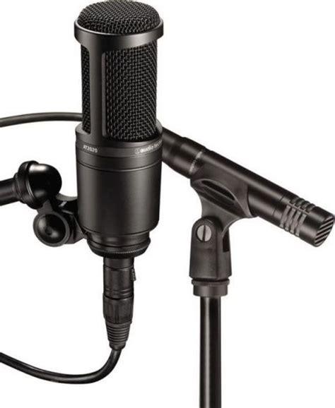 Audio Technica At2020 Cardioid Condenser Studio Microphone audio technica at2041sp cardioid condenser studio at2020 side address cardioid condenser