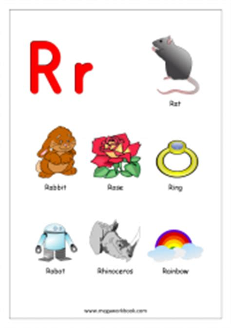 colors starting with r free printable alphabet reading pages things that start
