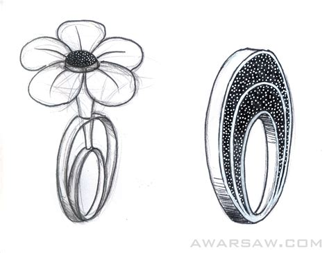 sketchbook ring jewelry sketches renders by warsaw at coroflot