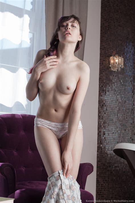 Ksenia Yankovskaya Strips Naked On Her Armchair