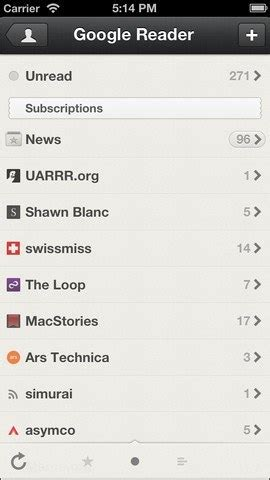 5 google reader alternatives w/ iphone apps iphoneness