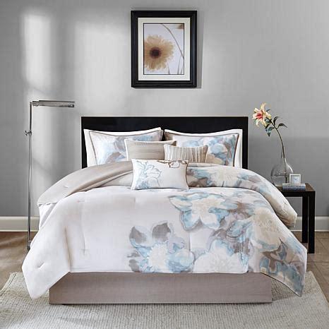 serena comforter set madison park serena 7 piece blue comforter set queen