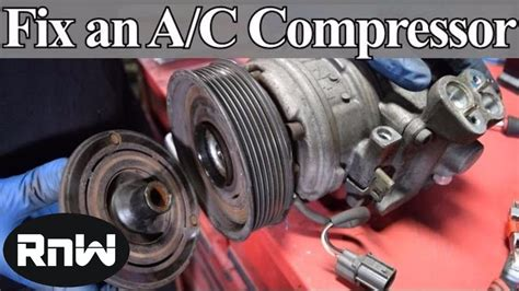how to diagnose and replace an a c compressor coil clutch and bearing on your car