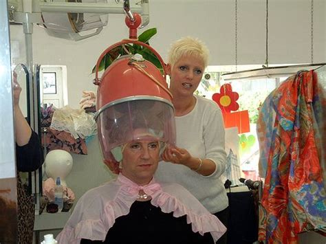 free vidoes of sissys in beauty salons sissy at the salon under the dryer in his pretty pink