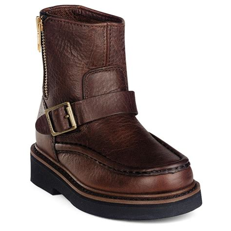 side zip boots 174 side zip wellington boots brown 186353 work boots at sportsman s guide