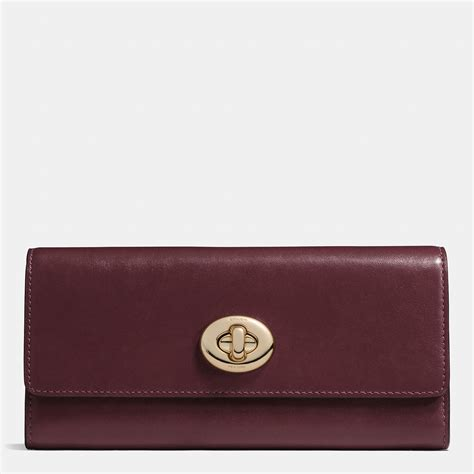 Coach Slim Envelope Wallet coach turnlock slim envelope wallet in smooth leather in