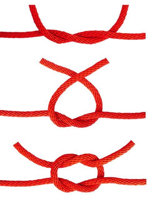 How To Make Square Knots - how to tie a square knot survival