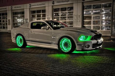 pimped out mustangs neon shelby this is a mustsng gt 500 shelby cobra