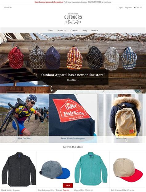 shopify themes with contact form outdoors this flat shopify theme offers a responsive