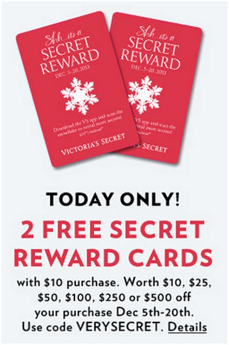 Vs Gift Card Code - victoria s secret 2 secret rewards card with 10 purchase stackable codes
