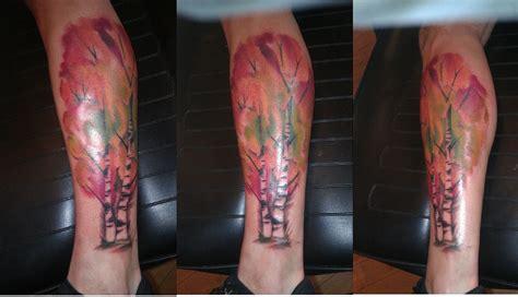 brite idea tattoo watercolor birch trees zera at brite idea
