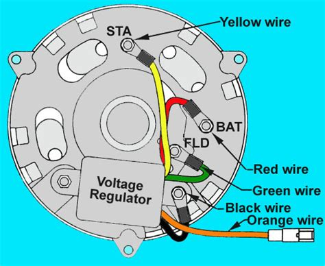 alternator voltage regulator wiring alternator voltage