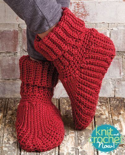 knit and crochet today free slipper boots crochet pattern designed by