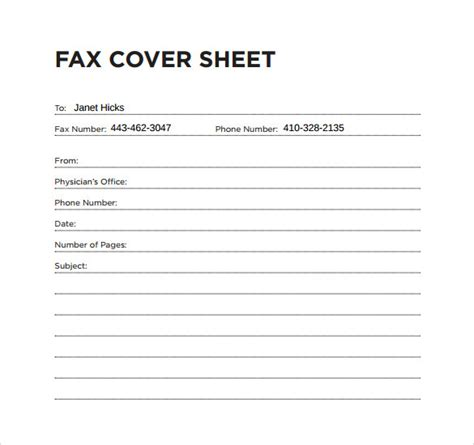 fax cover sheet templates 8 office fax cover sheet free sle exle format