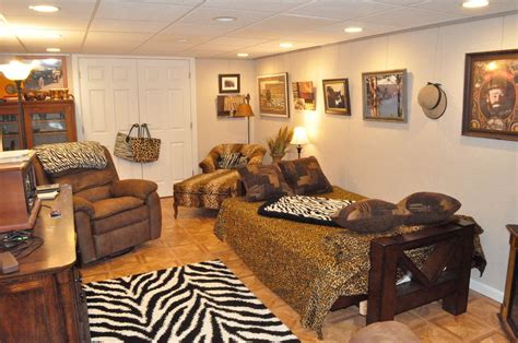 safari themed living room safari themed basement entertainment room
