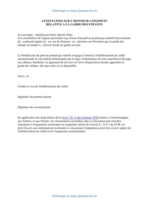 Exemple De Lettre Temoignage Divorce Modele Attestation Garde Alternee Document