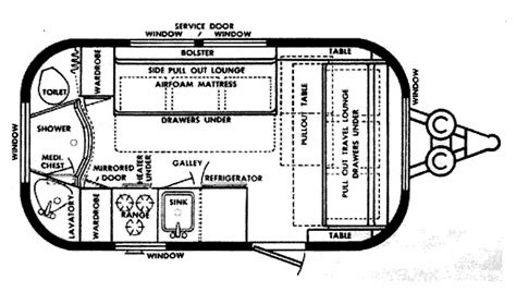 vintage airstream floor plans a makeover for a vintage airstream my sweet cottage