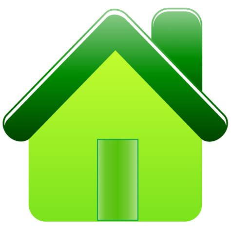 haus icon how to create green house icon iconshots