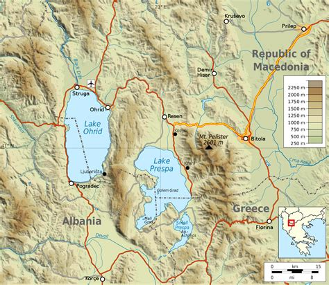 i 5 map lake ohrid