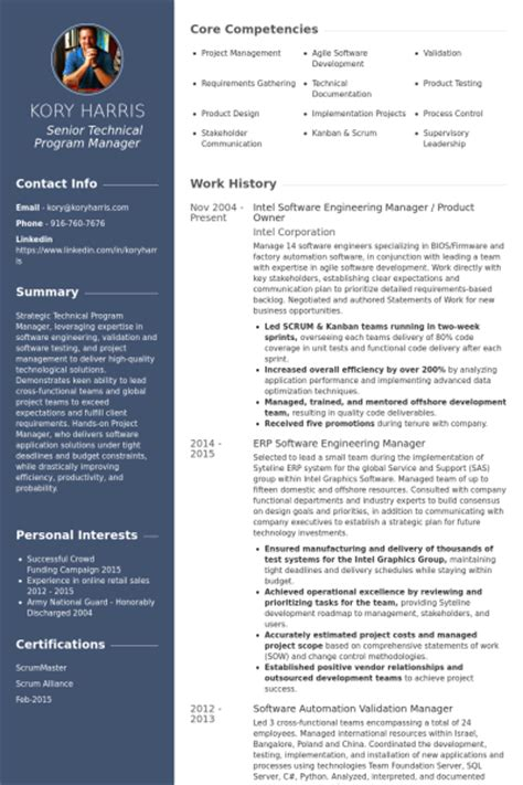 engineering manager resume sles visualcv resume