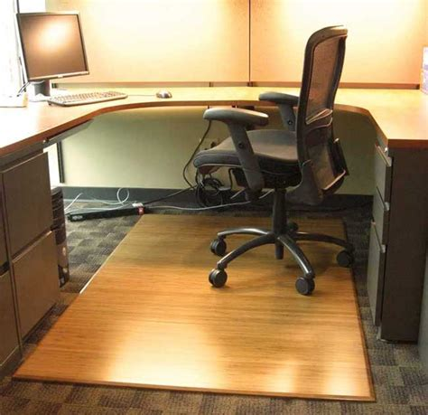Wood Office Chair Mat by Eco Friendly Bamboo Wood Office Chair Mat Tri Fold