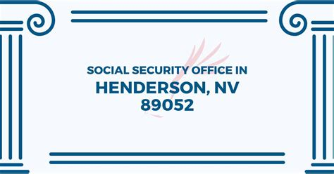 Locate Social Security Office Near Me by Social Security Office In Henderson Nevada 89052 Get