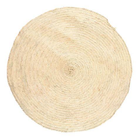tappeto di tappeto in foglie di palma d100cm naturale smallable home