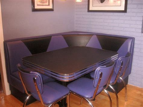 diner booths for home purple diner booth home booth kitchen seating chairs table