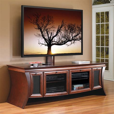 Furniture. Black Wooden TV Stands With Mounts And Shelf Having Glass Top And Rectangle Black Led