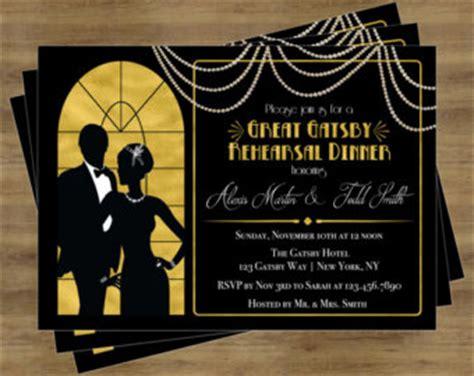 the great gatsby invitation template gatsby invitation etsy